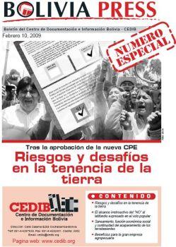 BoliviaPress Febrero 2009: Riesgos y desafíos en la tenencia de la tierra