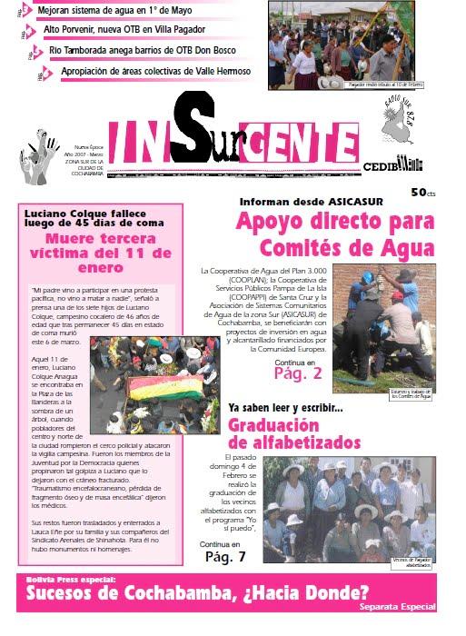 inSURgente, marzo 2007