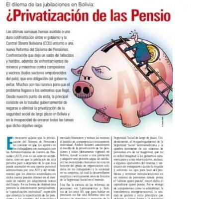 Petropress11_ART5_Privatizacion de las pensiones o seguridad social