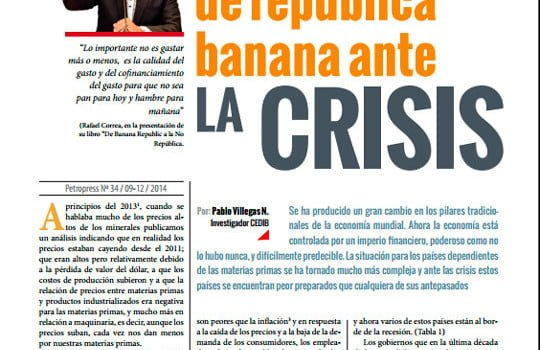 Un blindaje  de república  banana ante la crisis (Petropress 34, 3.15)
