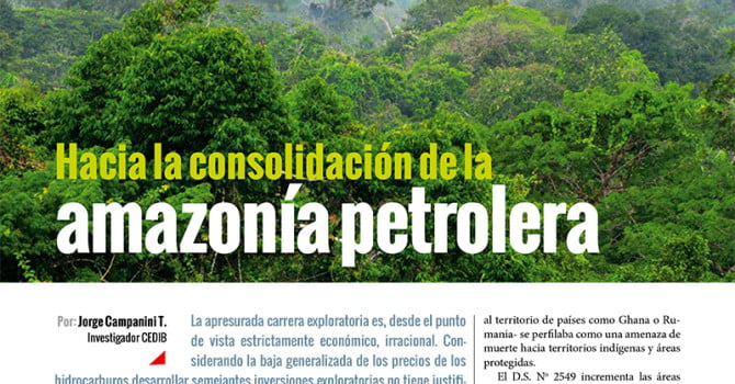Hacia la consolidación de la Amazonía petrolera (Petropress 35, 3.16)