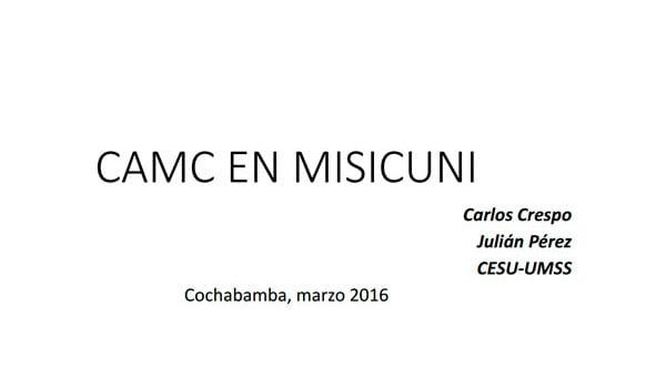 02 CAMC en Misicuni