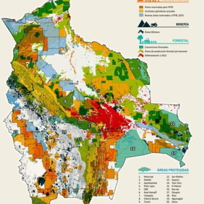 Mapa del Extractivismo en Bolivia