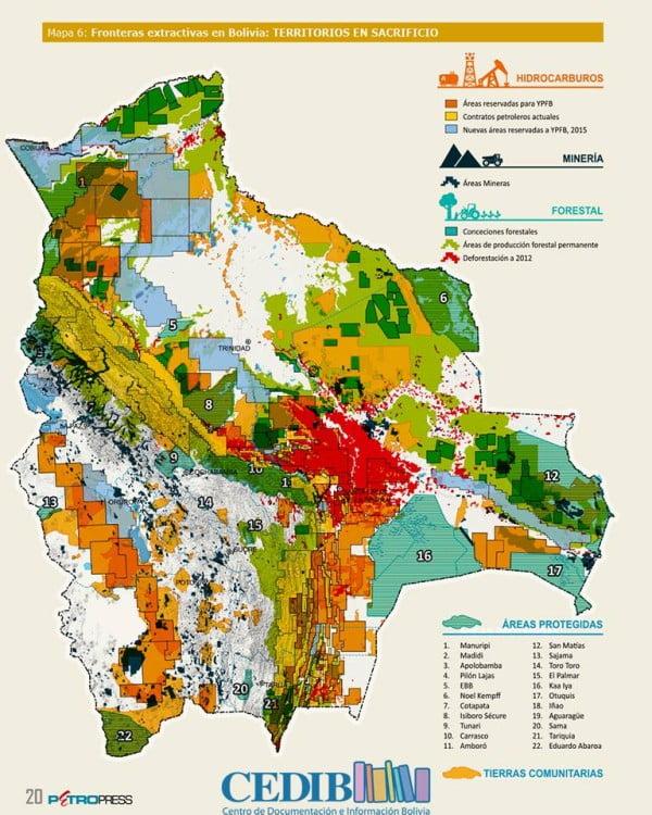Mapa del Extractivismo