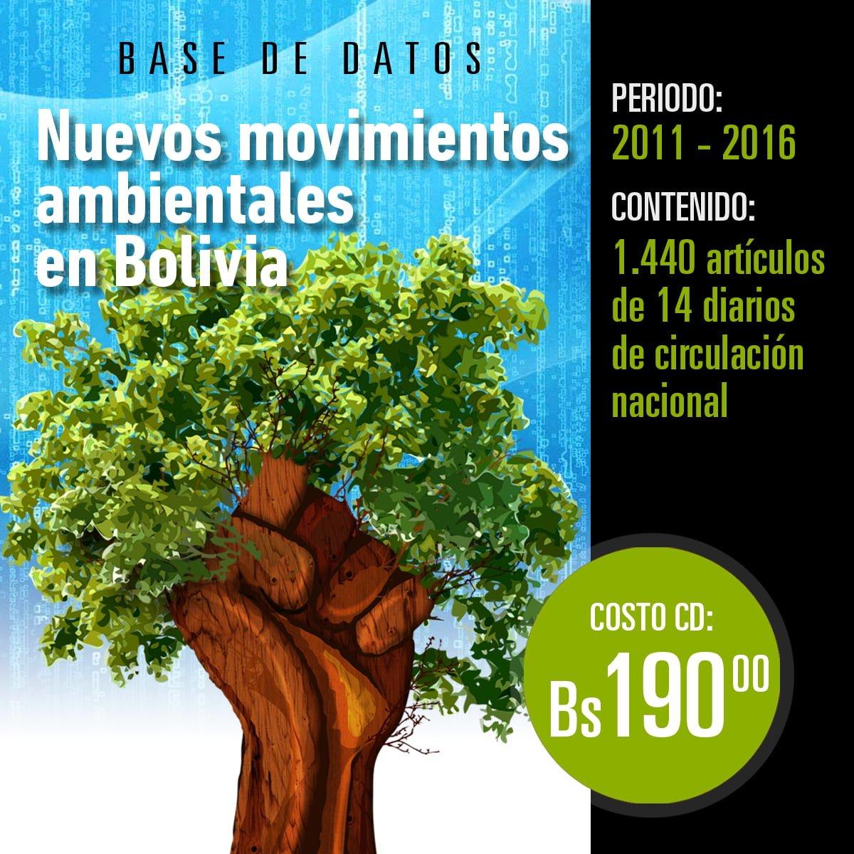 Nuevos movimientos ambientales en Bolivia: Base de datos