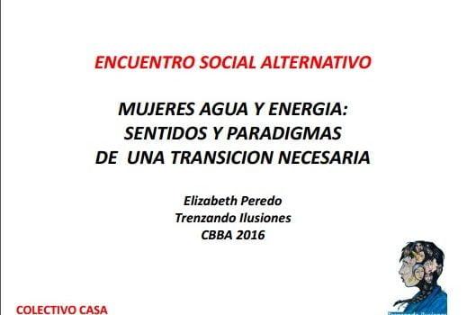 Mujeres, agua y energía (Elizabeth Peredo, Trenzando Ilusiones)