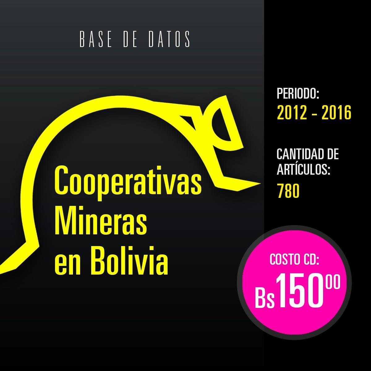 Cooperativas mineras en Bolivia: Base de datos hemerográfica