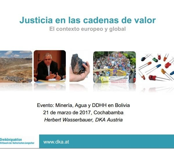 Justicia en cadenas de valor. El contexto europeo y global.