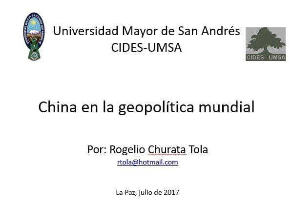 China en la geopolítica mundial