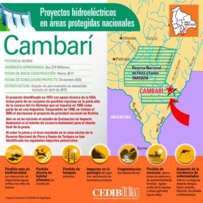 Cambari: Proyectos hidroeléctricos en áreas protegidas de Bolivia