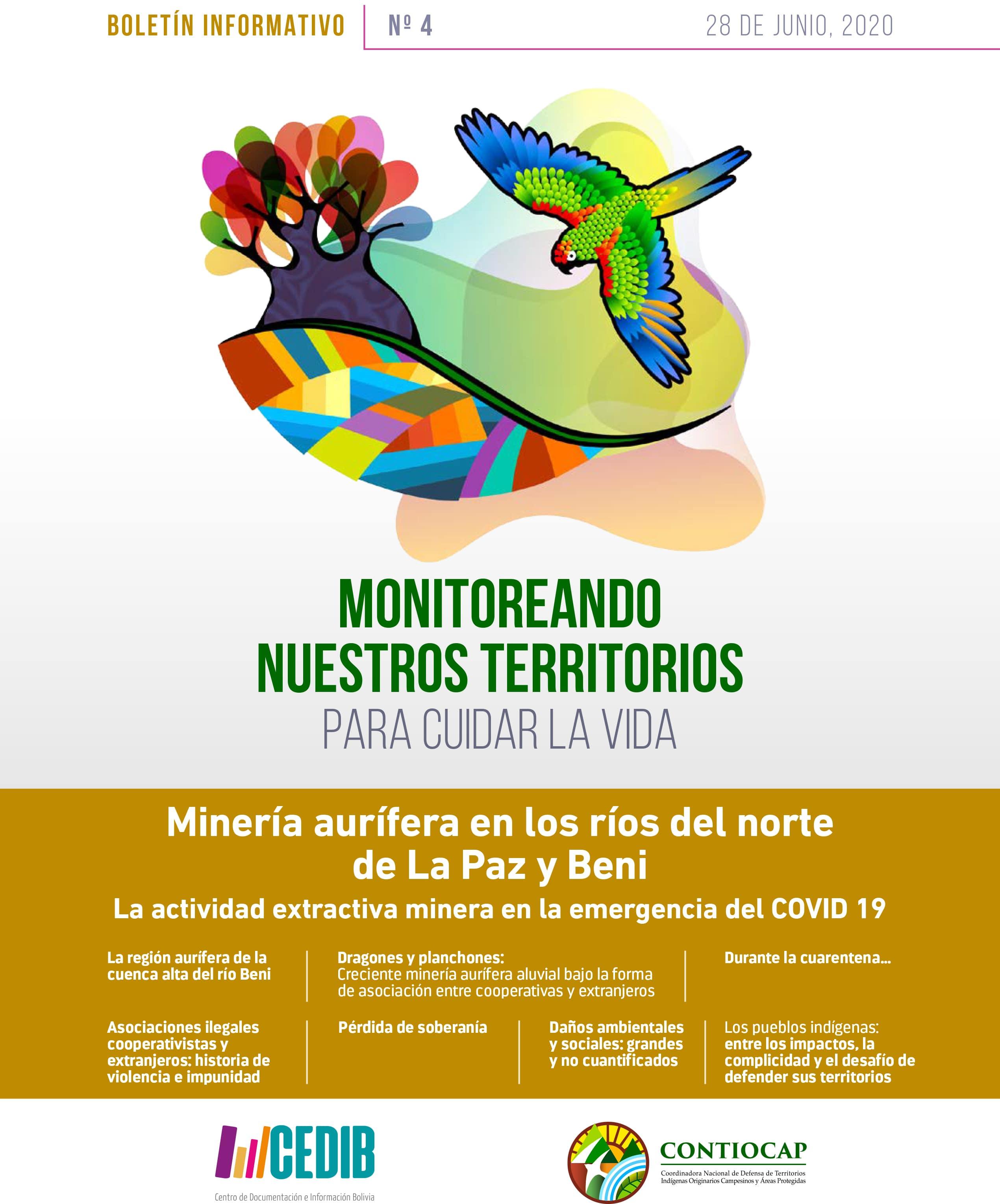Monitoreando nuestros territorios para cuidar la vida – Boletín CONTIOCAP #4: La actividad extractiva minera en la emergencia del COVID 19