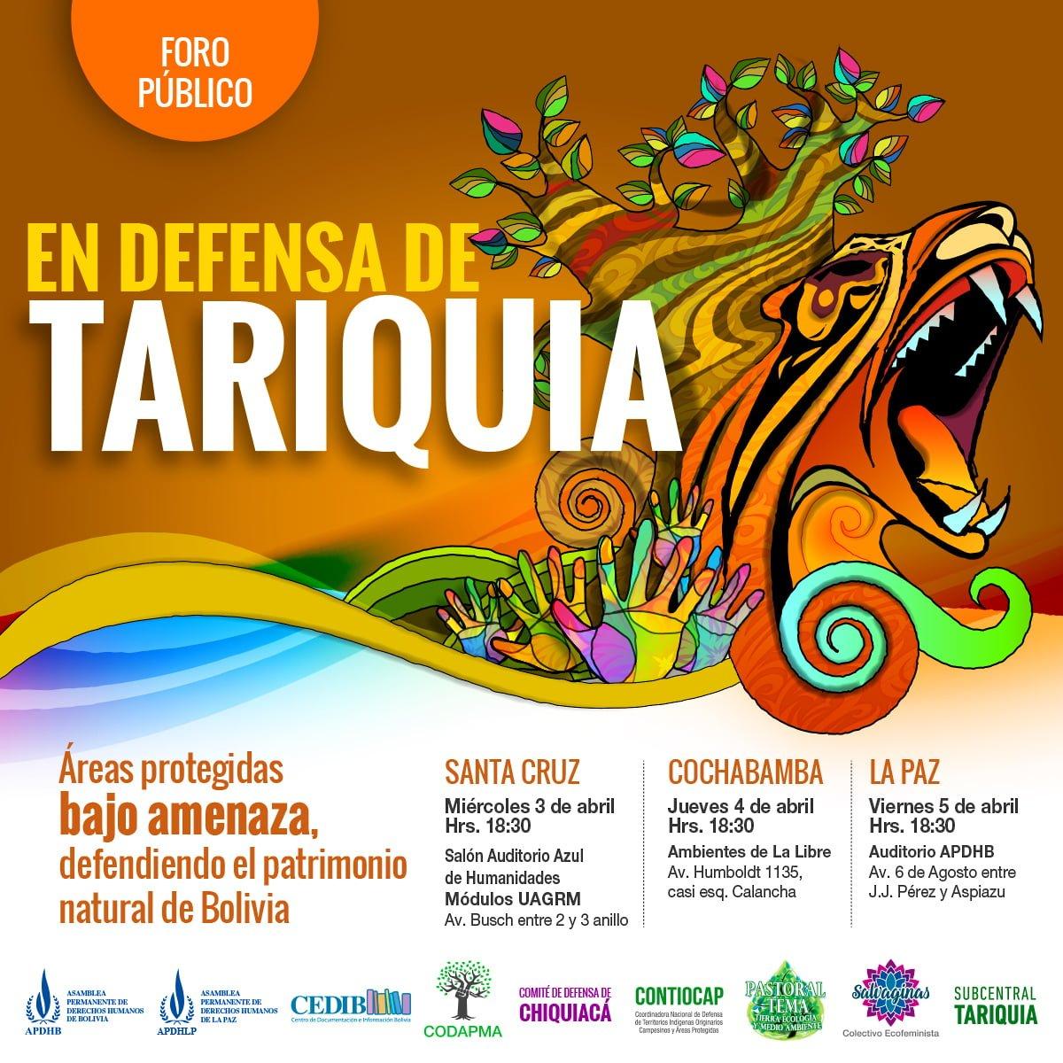 Foro público: Defensa de Tariquía