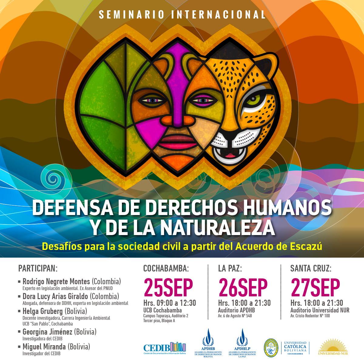 Defensa de derechos humanos y de la naturaleza Desafíos para la sociedad civil a partir del Acuerdo de Escazú
