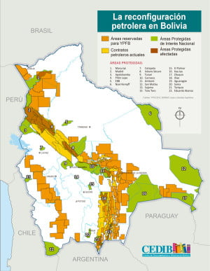 Reconfiguracion petrolera Bolivia