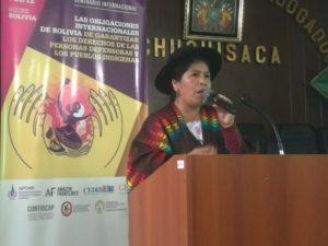 Toribia Lero Quispe - Coordinadora Andina de Organizaciones Indíegnas